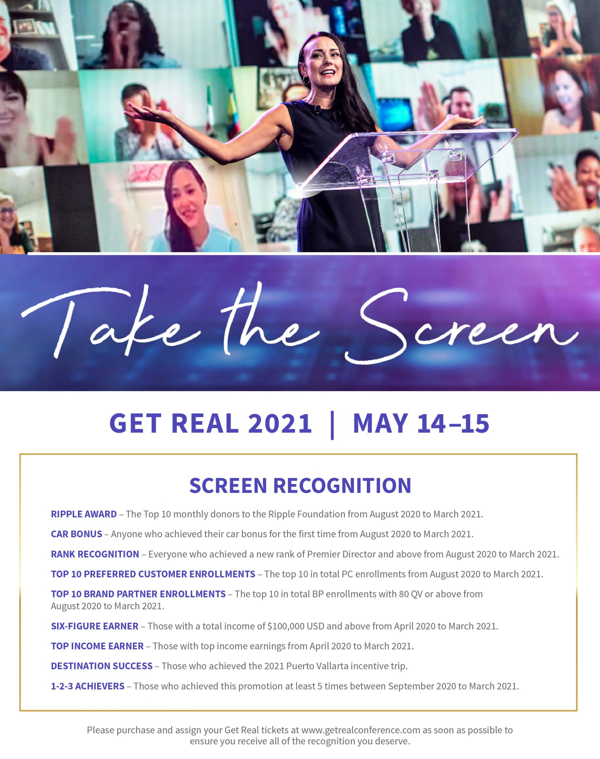 Take the Screen at Get Real 2021 | May 14-15