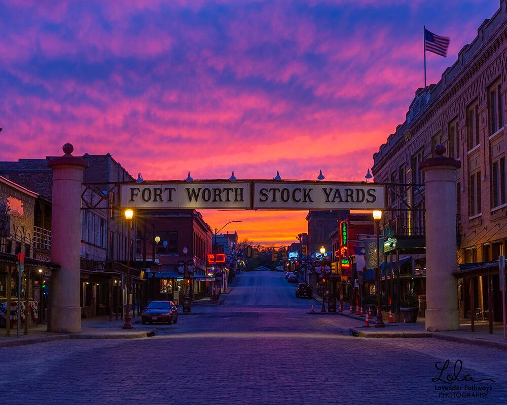 fort-worth-stock-yards-sunset